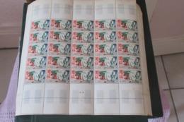Cameroun 1949  Poste Aérienne Feuille  Entière  De 25  Exemplaires N** MNH  CAT YT  N° 42 N**  MNH Avec Coin Daté - Kamerun (1915-1959)