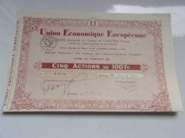 UNION ECONOMIQUE EUROPEENNE (titre 5 Actions) 1932 - Actions & Titres