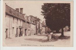 FRANCE / CPA / BLERE / COUHE-VERAC / RUE DE LA REPUBLIQUE /1963 - France