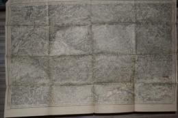 Carte Corps D'Etat-major Dépôt De La Guerre 1915 Rethel 85 X 60 Cm - Documenti