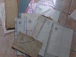 Lot 35  Acte Notariée Et Vieux Manuscrit A Découvrir - Manuscrits