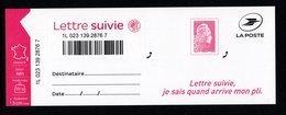 France 2019. ADHESIF.Nouvelle Marianne Vignette+timb Lettre Suivie 20grammes Validité Permanente..N° Non Contractuel. - France