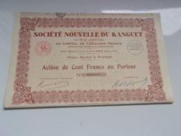 NOUVELLE DU KANGUET (mines De Zinc Et Plomb En Tunisie) 1932 - Actions & Titres