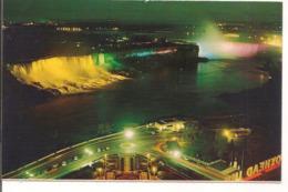 L120B675 - Chutes Du Niagara Illuminées - Plastichrome - Chutes Du Niagara