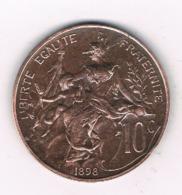 10 CENTIMES 1898  FRANKRIJK /6667/ - D. 10 Centimes