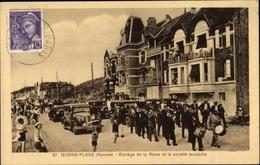 Cp Quend Plage Somme, Cortège De La Reine Et La Société Musicale - Francia