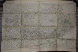 Carte Corps D'Etat-major Dépôt De La Guerre 1915 St Omer Saint Omer 85 X 60 Cm - Documenti