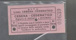 BIGLIETTO S.I.T.A  LINEA CESENA CESENATICO ANNI 30 - Europa
