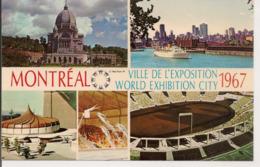 L120B677 - Montréal - Ville De L'Exposition 1967 - Carte Multivues Plastichrome - Montreal