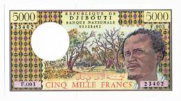 BANQUE NATIONALE DE DJIBOUTI // 5000 Francs // UNC - Dschibuti
