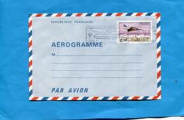 """REUNION-Aérogramme 2.10 """"Concorde"""" Oblitération Flamme  """"aéroport """" Cad 1981 - Entiers Postaux"""