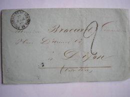 FRANCE - LAC ( Partiellement Coupée) De Fougerolles De Luxeuil Du 27/04/49 Pour Dijon  - 3 Photos - 1801-1848: Précurseurs XIX