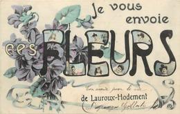 - Allier -ref-C433- Lauroux Hodement - Envoi De Fleurs .. - Souvenir De .. - Carte Bon Etat - - France