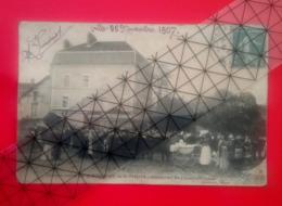 """Saint Ferjeux -  Concert De """" La Concorde """" Devant Le Restaurant Du Point Du Jour - Datée,signée Landriot - Besançon . - Autres Communes"""