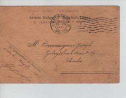PR7136/ CP Armée Belge C.méc.1921 Bataillon De Pontonniers Attestation Relative Octroi Chevrons De Front > Uccle - Marcophilie