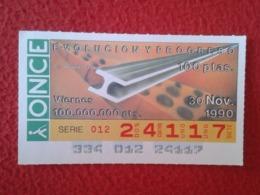 SPAIN CUPÓN DE ONCE LOTTERY LOTERÍA ESPAÑA 1990 EVOLUCIÓN Y PROGRESO EVOLUTION AND PROGRESS LA ARQUITECTURA ARCHITECTURE - Billetes De Lotería