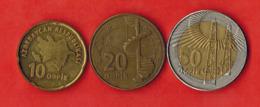 Azerbaijan. Set Of 3 Coins. - Azerbaiyán