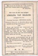 Dp. Van Braband Angelina. Echtg. Geubbelmans Joannes. ° Olmen 1840 † Baelen 1903  (2 Scan's) - Religion & Esotérisme