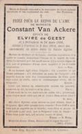 Bellegem, Courtrai, 1914, Constant Van Ackere, De Geest, - Images Religieuses