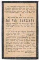 Dp. Janssens Jozef. ° Olmen 1894 † Baelen 1919  (2 Scan's) - Religion & Esotérisme