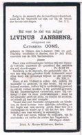 Dp. Janssens Livinus. Echtg. Ooms Catharina. ° Olmen 1861 † Baelen 1922  (2 Scan's) - Religion & Esotericism