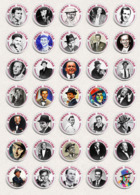 105 X FRANK SINATRA Music Fan ART BADGE BUTTON PIN SET 1-3  (1inch/25mm Diameter) - Musique