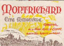 MONTRICHARD (Loir Et Cher) : Joli Dépliant Touristique Admirablement Dessiné Et Illustré. - Tourism Brochures