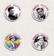 105 X FRANK SINATRA Music Fan ART BADGE BUTTON PIN SET 4-6  (1inch/25mm Diameter) - Musique