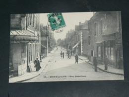 MONTLUCON     1910 /     VUE RUE ANIMEE AVEC COMMERCES   .....  EDITEUR - Montlucon