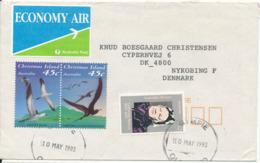 Christmas Island / Australia Cover Sent Air Mail To Denmark Gympie 10-5-1993 - Christmas Island