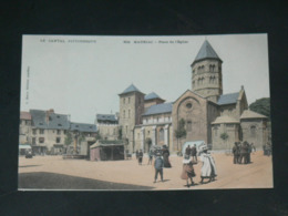 MAURIAC      1910 /     VUE RUE ANIMEE AVEC COMMERCES   .....  EDITEUR - Mauriac