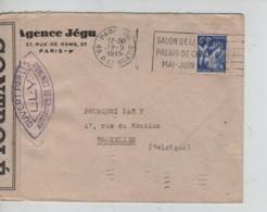 PR7139/ TP Marianne S/L.Agence Jégu Paris 1945 Censure - CONTROLE > BXL C.d'arrivée - Marcophilie (Lettres)