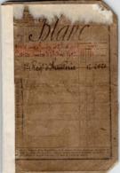 VP15.705 - MILITARIA - BELLEY 1891 - Livret Militaire Du Soldat C. BLANC De DOMPIERRE Au 5 ème Rgt D'Artillerie - Documenti