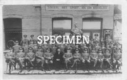 Fotokaart Lokaal Het Sport Aug. Van Bercbkelaer 1928  - Mortsel - Mortsel