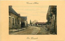 - Allier -ref-C408- Courcay - Rue Principale - Pourtour Cadre - Carte Colorisée Bon Etat - - France