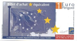 BILLET D'ACHAT ÉQUIVALENT LA DORDOGNE  CCI PÉRIGUEUX PERIGORD - France