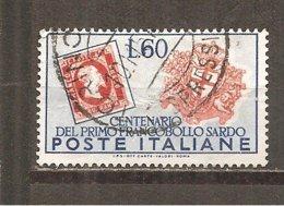 Italia-Italy Yvert Nº 612 (usado) (o) (con Arrugas) - 1946-60: Usados