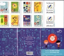 GREECE , 2019,MNH, CHILDREN AND STAMPS, SMOKE FREE GREECE, HEALTH, OWLS, BOOKLET - Health