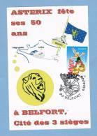 ASTÉRIX Fête Ses 50 Ans - Cachet BELFORT 2009 - Marcophilie (Lettres)