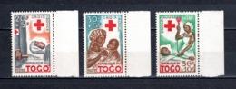 TOGO N° 292 à 294   NEUFS SANS CHARNIERE COTE  3.50€  CROIX ROUGE - Togo (1960-...)