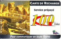 HAITI - Palais Du Sans Souci, Haitel Recharge Card 100 Gdes, Exp.date 31/DEC/02, Used - Haïti