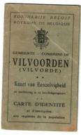 Carte D'identité VILVOORDEEN / Vilvorde - Lucia VERMEESCH - 1927 - 2 Scans - Vieux Papiers