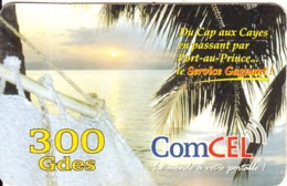 HAITI - Du Cap Aux Cayes..., ComCel Prepaid Card 300 Gdes, Used - Haiti