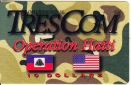 HAITI - Operation Haiti, Trescom Prepaid Card, First Issue $10, Exp.date 04/97, Mint - Haïti