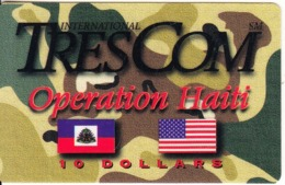 HAITI - Operation Haiti, Trescom Prepaid Card, First Issue $10, Exp.date 04/97, Mint - Haiti