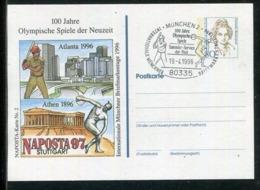 """Bundesrepublik Deutschland / 1996 / Privatpostkarte """"Olympische Spiele"""" SSt. Muenchen (24472) - [7] Federal Republic"""