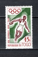 TOGO N° 304   NEUF SANS CHARNIERE COTE  0.90€  JEUX OLYMPIQUES ROMME - Togo (1960-...)