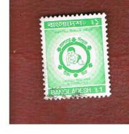BANGLADESH  -  SG 368  -  1990 IMMUNIZATION     - USED  ° - Bangladesh