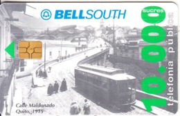 ECUADOR - Calle Maldonado/Quito 1915, BellSouth Telecard, First Issue S/.10000, Chip GEM3.1, Used - Ecuador