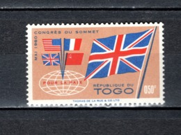 TOGO N° 315   NEUF SANS CHARNIERE COTE  0.25€  DRAPEAUX - Togo (1960-...)